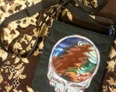 Grateful Dead Purse Steal Your Face Embroidered Bag - Cross Body Bag
