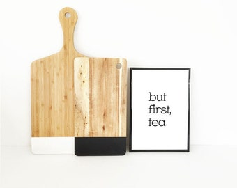 but first tea art print