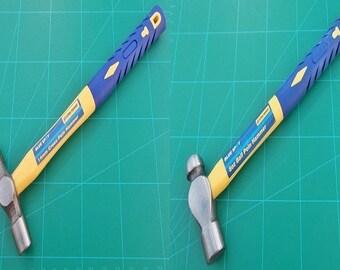 1 x 8oz Ball Pein and 1 x Cross Pein Hammer 2 Hammer Set With Fiberglass Handles