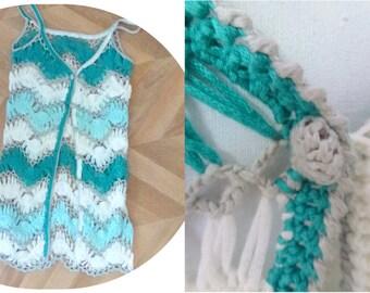 knit mint jacket
