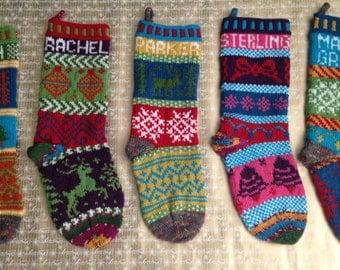 Custom Knit Christmas Stocking