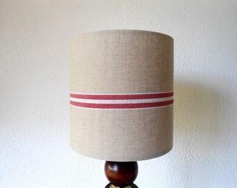 Natural linen  lampshade