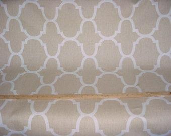 6-1/4 yards Kravet / Windsor Smith Riad Tan - Arabesque Linen Drapery Upholstery Fabric - Free Shipping