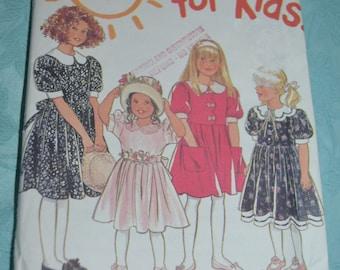 New Look 6165 Girls Dress Sewing Pattern - UNCUT - Sizes 4-9