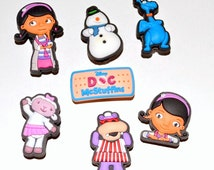 Little Doctor Shoe Charms Decorations, Crocs Accessories, Birthday Party Favors, Pack Zipper Pulls Kids gift (Set of 7)