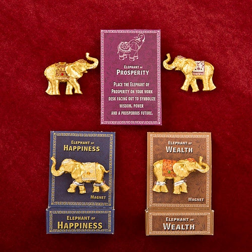 Lucky Elephant Key Magnets - Elephant favor, Elephant gift, Indian wedding favor