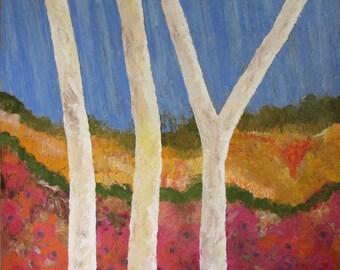 Pastel Ranges - oil on canvas