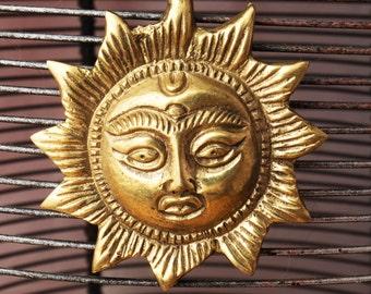Golden Sun Tibetan Pendant
