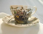 1982's Myott Royal Mail Staffordshire Ware Vintage Cup & Saucer