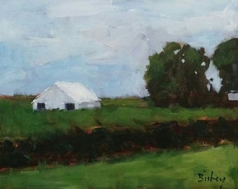 Edge of the Field.   Original 8x10 acrylic painting on stretched canvas.