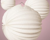 """8"""" or 12"""" White Accordion Hanging Paper Lanterns Party Decorations Outdoor Patio Decor Japanese Chinese Asian Frozen"""