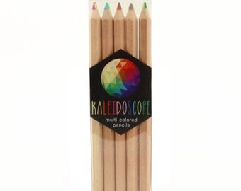 Kaleidoscope Colored Pencils Art Supplies Drawing Kawaii Scrapbooking Stationary Changes Color As You Write Stocking Stuffer Gift