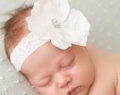 FREE SHIPPING! Headband White, White Baby Headband, White Headbands, Flower Girl Headband, White Headbands, Big White Headband
