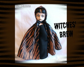 Living Dead Doll Clothes - WITCHES' BREW Hooded Cape & Gown - by dolls4emma