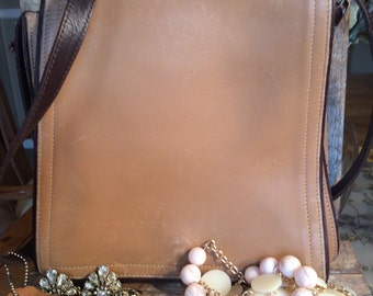 Vintage Tan /Brown Coach crossbody purse with hang tags