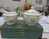 Vintage Noritake Marlene Pattern Creamer and Sugar Bowl