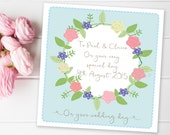Wedding Card For Couple on special day 'Boho Flowers'