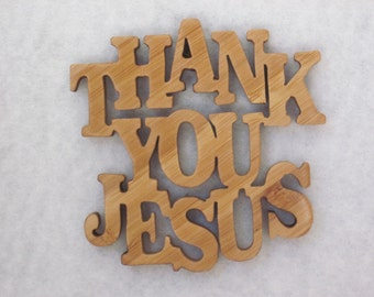 Magnetic Word Art    Thank You Jesus  2.5 in. x 2.5 in.