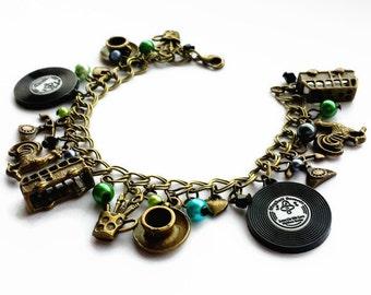 Ghost World Vintage Gold Charm Bracelet