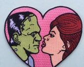 I'm in love with Frankenstein iron on patch