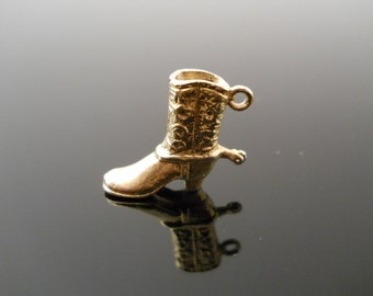 Boot Charm, Silver Charm, Gold Silver Charm, Sterling Charm, 925 Charm, Western Charm, Cowboy Boot, 925 Boot Charm, Boot Spur Charm
