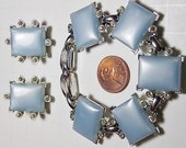 Sale Vintage Kramer Thermoset Blue Bracelet and Earrings