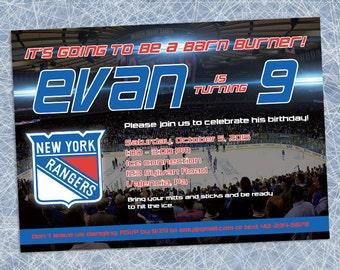 New York Rangers Invitation - Printable