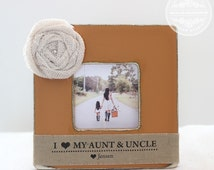 Aunt Uncle Auntie Gift Personalized Picture Frame Gift Custom Frame from Niece Nephew - Crystal Cove Design Studio