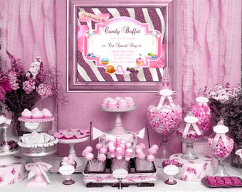 Candy Buffet Table Sign - Printable 8 x 10 - INSTANT DOWNLOAD