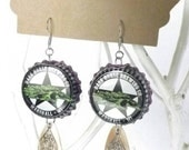 Bottle Cap Jewelry Dark Horse Brewing Co. BEERings Marshall Michigan Upcycled Earrings
