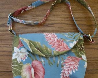 Hawaiian Aloha Fabric Fallon Purse Bag by Clobird Designs  Handbag Accessories Womens Vacation