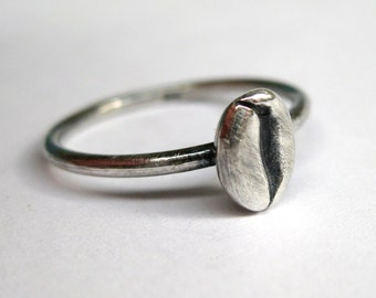 Coffee Bean Ring - Sterling silver