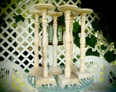 """CUSTOM ORDER for TAYLA - Two 20"""" floral stands"""