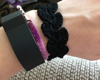 Black crochet bracelet