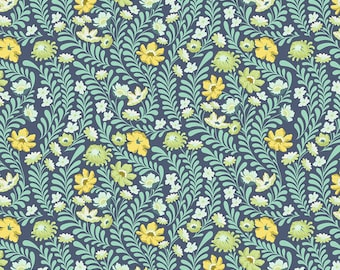 Baby Bedding Crib Bedding - Green Teal Floral Flowers