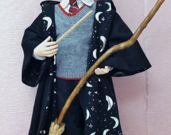Boy Wizard, Finished Fantasy Porcelain Doll
