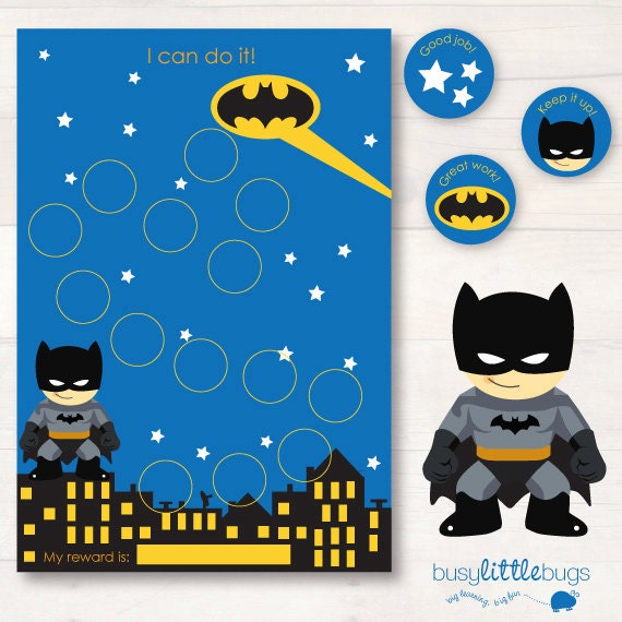 Batman chore/reward chart pack AUTOMATIC DOWNLOAD