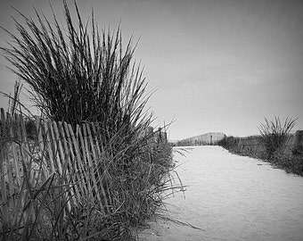 Ocean City New Jersey,Black And White,Jersey Shore,Seascape,NJ Beach,Print,Photography,Canvas Wall Art