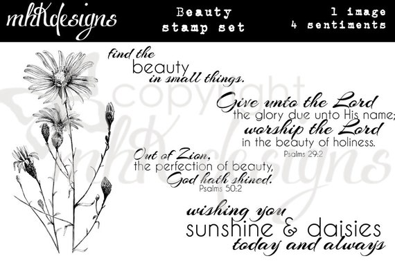 Beauty Digital Stamp Set