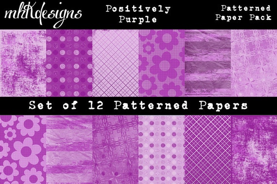 Positively Purple Patterned Paper Pack