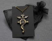 Fullmetal Alchemist Flamel necklace – Edward Elric cosplay / costume prop / replica / convention accessory