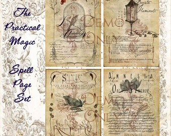 Practical Magic Inspired Spell page set