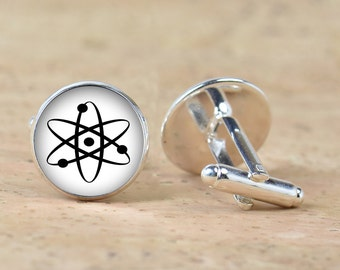 Atom Cufflinks Accessories Physics Einstein  Newton  cufflinks