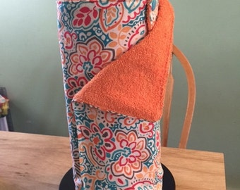 Made to Order Set of 12 Unpaper Towels / Cloth Paper Towels /Reusable Paper Towels with Snaps (11 in x 11 in) Custom