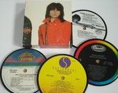QUEENS of ROCK Coasters vinyl record coaster set Chrissie Hynde Joan Jett
