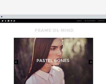 Wordpress template 'Frame of Mind'