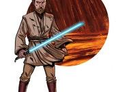 Star Wars Obi-Wan Kenobi Print of Original Artwork