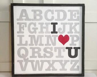 ABC (I Love You) Sign