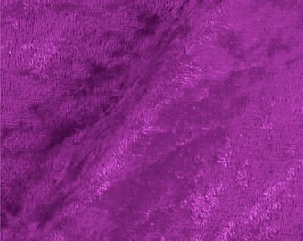 Crushed Panne Velour Fabric Rose Violet  - 1 Yard Style 10002