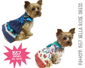 Bella Rose Dog Dress Pattern 1557 * Bundle All Sizes * Dog Clothes Sewing Pattern * Dog Harness Dress * Designer Dog Clothes * Dog Apparel